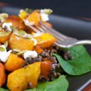 Roasted Pumpkin & Fennel Salad with Goat Cheese and Maple Vinaigrette