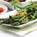 Blanched Asparagus and Green Beans