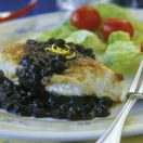 Chicken Breasts with Blueberry Sauce