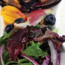 Steamed Mussels with Blueberry Vinaigrette