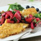 Pan-Fried Haddock with Apple Blueberry Salsa