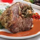 Roast Leg of Lamb with Herbs and Mustard