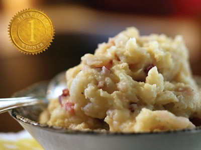 Apple Cheddar Potato Mash