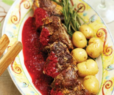 Local Lamb with Raspberry Black Peppercorn Sauce