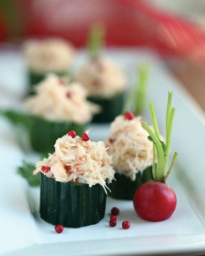 Snow Crab Cucumber Timbale