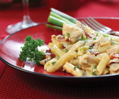 Creamy Turkey & Bacon Pasta