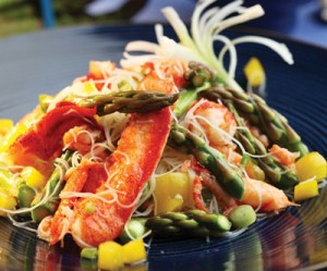 Asian-style Asparagus and Lobster Noodle Salad