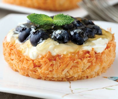 Individual Fruit Tarts in Coconut Crusts