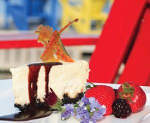 Inverary's Signature White Chocolate Cheesecake