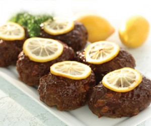 Lemon Barbecued Meat Loaves