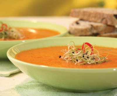 fresh tomato and red pepper soup saltscapes magazine