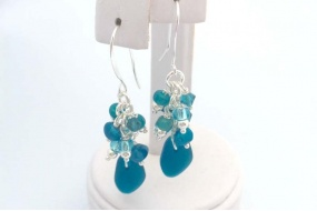 sea_glass_cluster_earrings
