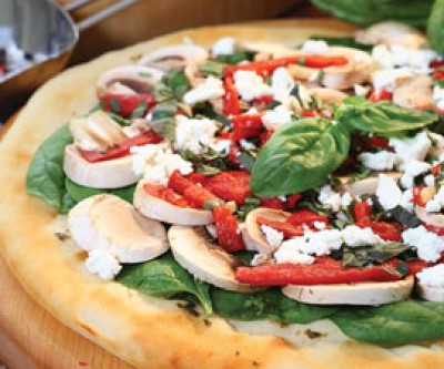 Bell Pepper, Red Onion & Goat Cheese Pizza