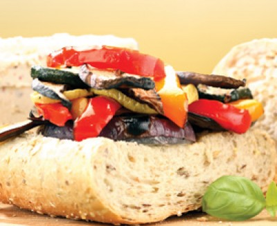 Grilled Vegetables with Basil and Goat Cheese - Saltscapes Magazine