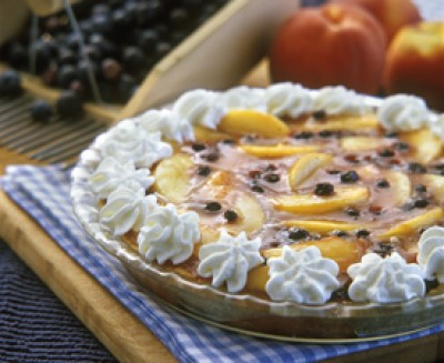 Blueberry Peach Pie with Pat-in Pie Crust