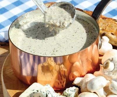 Mushroom & Blue Cheese Soup