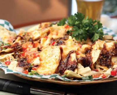 Barbecued Chicken Nachos - Saltscapes Magazine