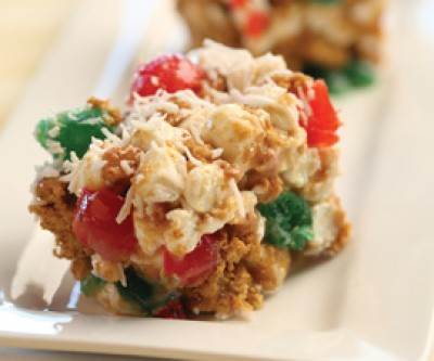 Cherry Marshmallow Christmas Squares