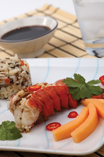 Roasted Lobster Tails with Ginger Dipping Sauce
