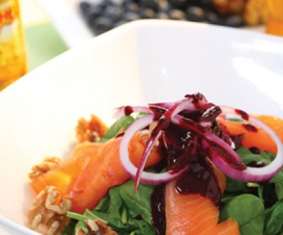 Smoked Salmon and Blueberry Kahlua Salad